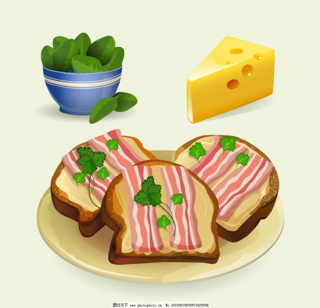 培根和奶酪吐司
