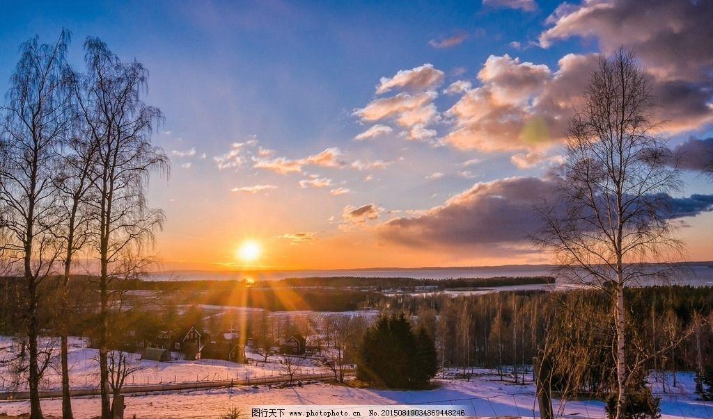 电脑桌面屏保 小木屋 小村庄 唯美 世外桃源 摄影 自然景观 自然风景
