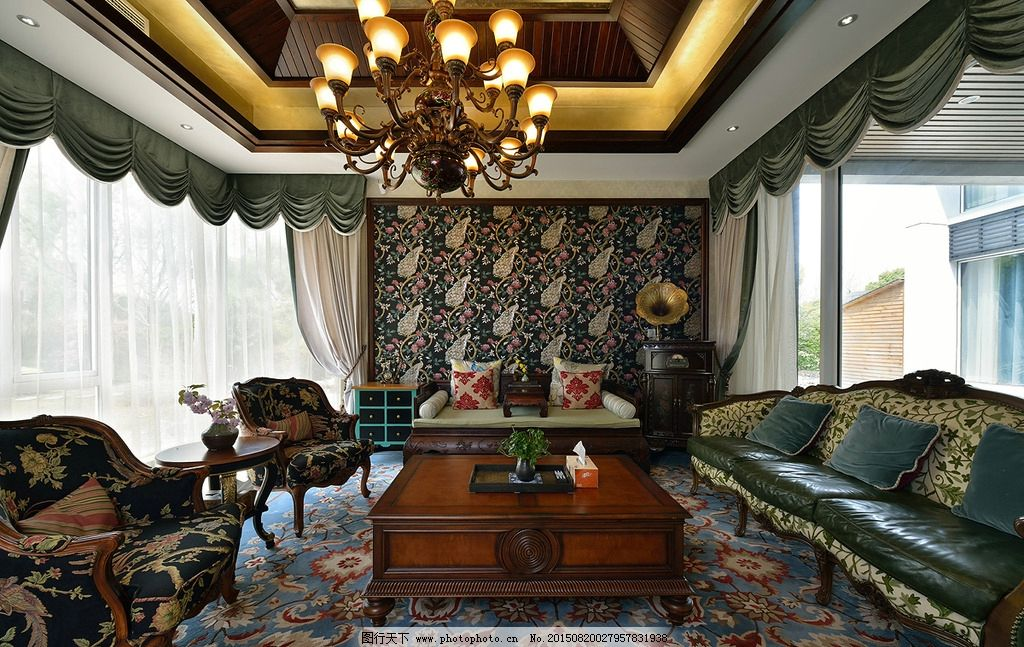 别墅设计照片 装饰 装修 壁纸 家具 美式 饰品