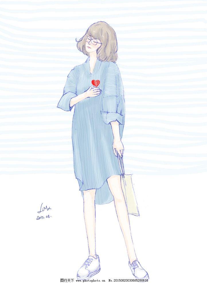 服饰绘画图片