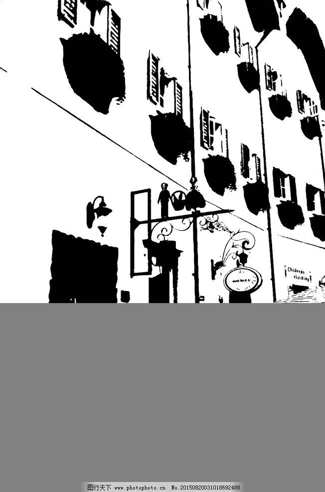 抽象黑白建筑图片