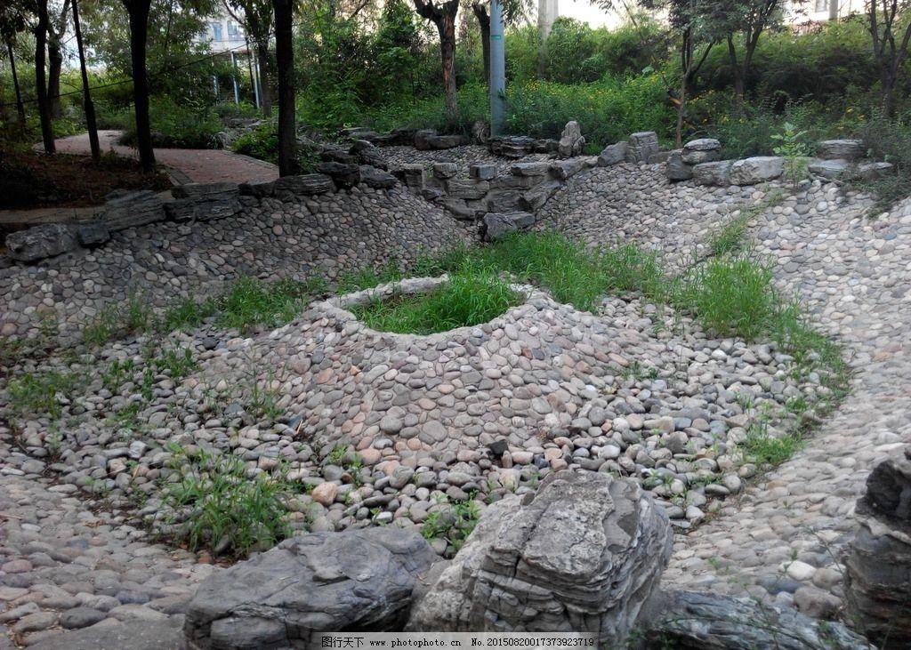 石头造型景观手绘