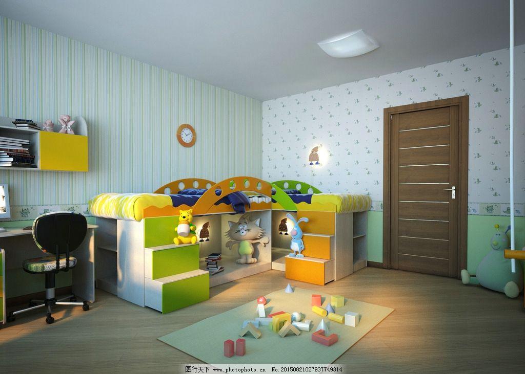 儿童房图片,房间 家具 彩色 温馨 可爱 玩具 文具-图
