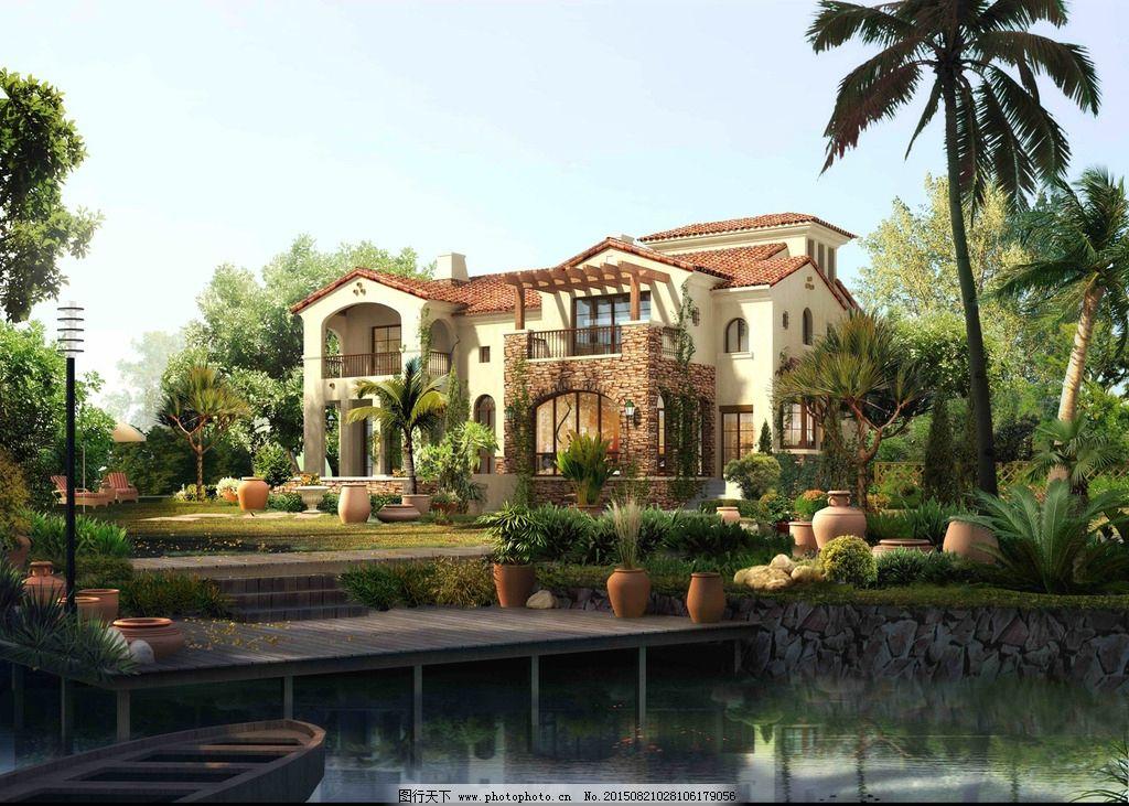 别墅效果图 别墅建筑 建筑效果图        psd 设计 环境设计 景观设计图片