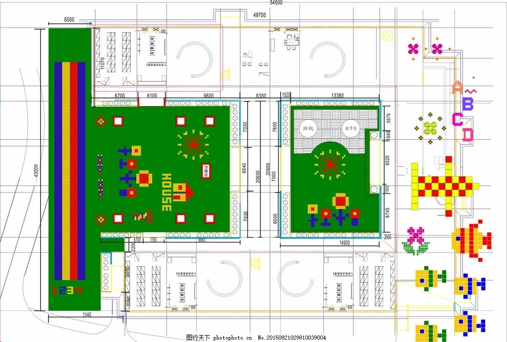 幼儿园设计图 跑道 平面图 图案 现代科文 幼儿园场地