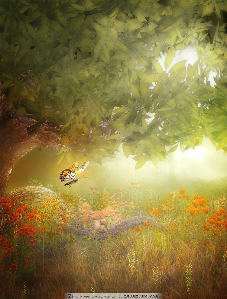 树藤 唯美哥特风格 魔幻场景 花园幻想 森林幻想 古罗马哥特式 背景