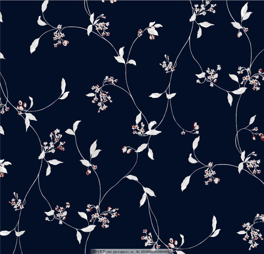 美丽的花布简笔画