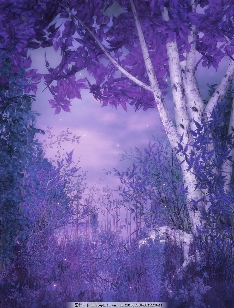 梦幻式背景 森林 绿色 梦幻森林 森林图片 树藤 森林幻想背 唯美哥特