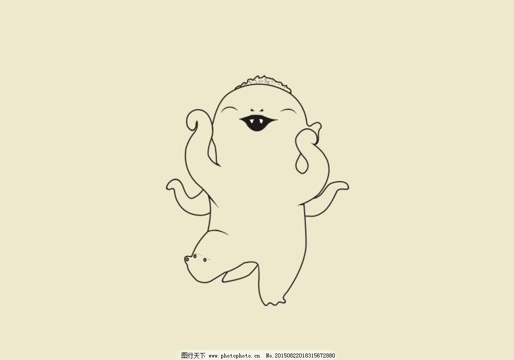 卡通可爱胡巴素描
