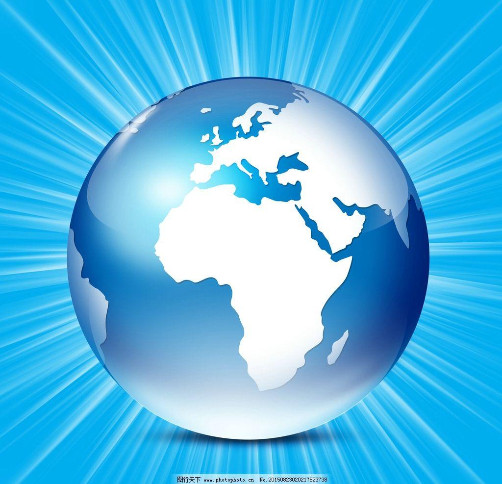 蓝色地球背景图片
