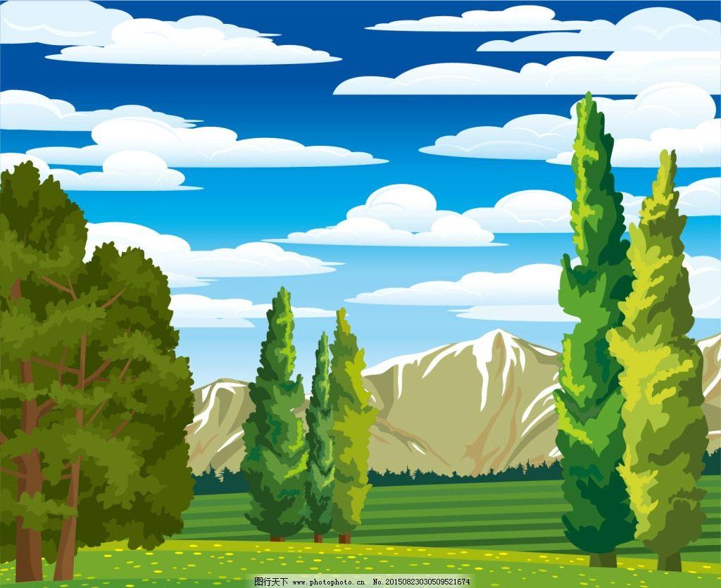 山谷树林图片