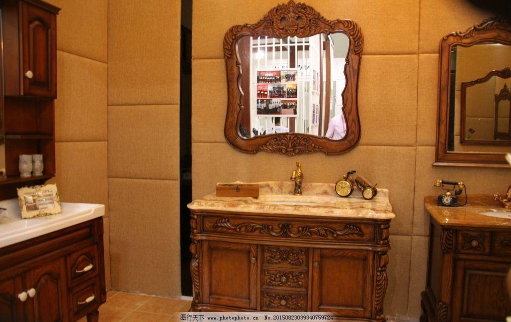欧式浴室柜台下盆图片大全