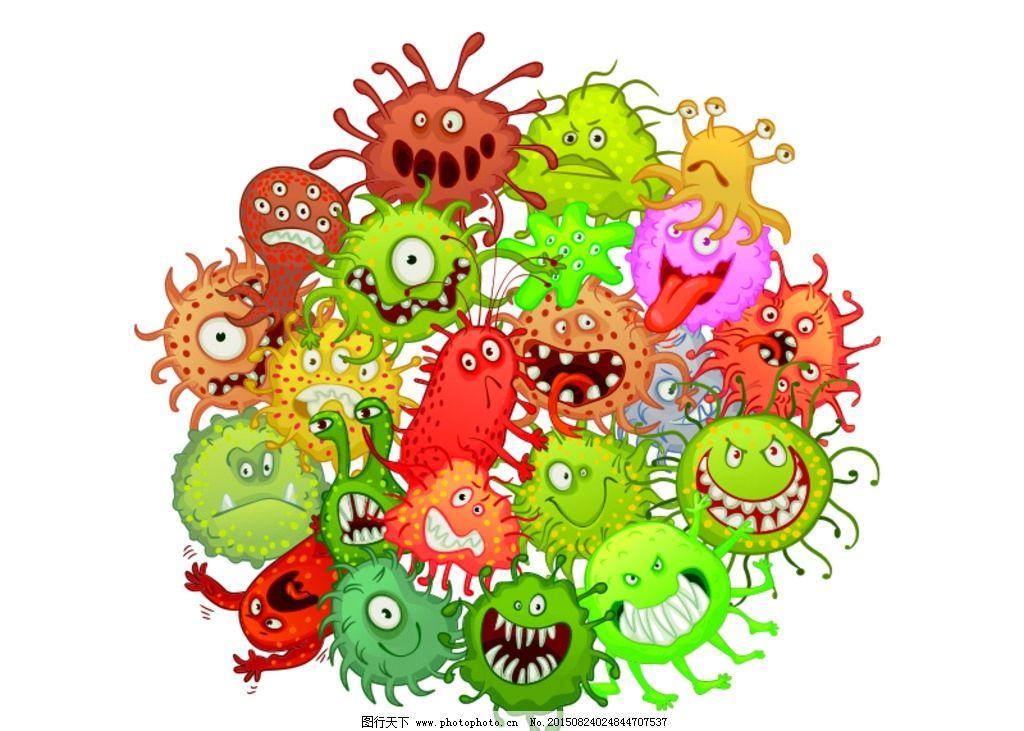 矢量病毒细菌 矢量细菌 病毒形象卡通 细菌形象卡通 病毒人物 细菌