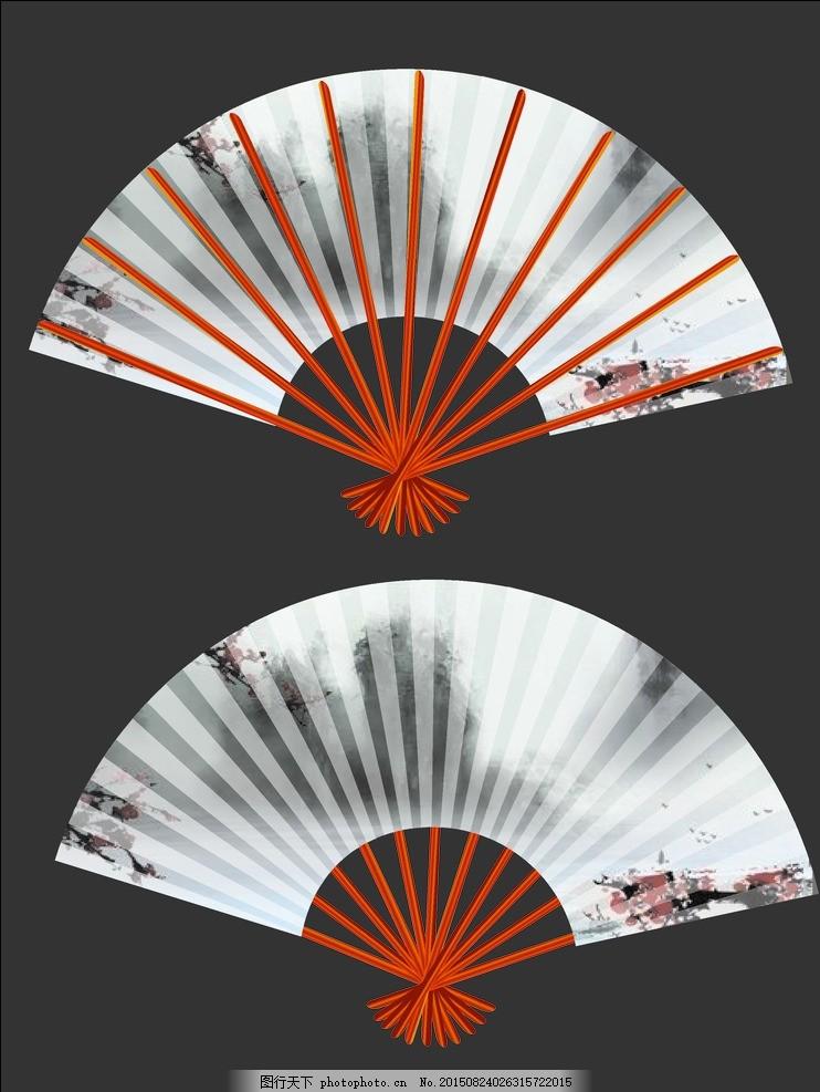 扇子 水墨画 古风 中国元素 装饰品