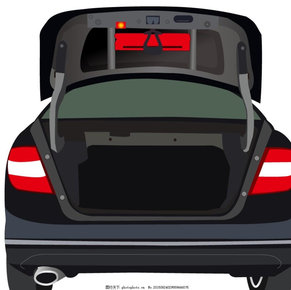 汽车后备箱 后备箱 黑色后备箱 奔驰后备箱 黑色汽车 设计 广告设计