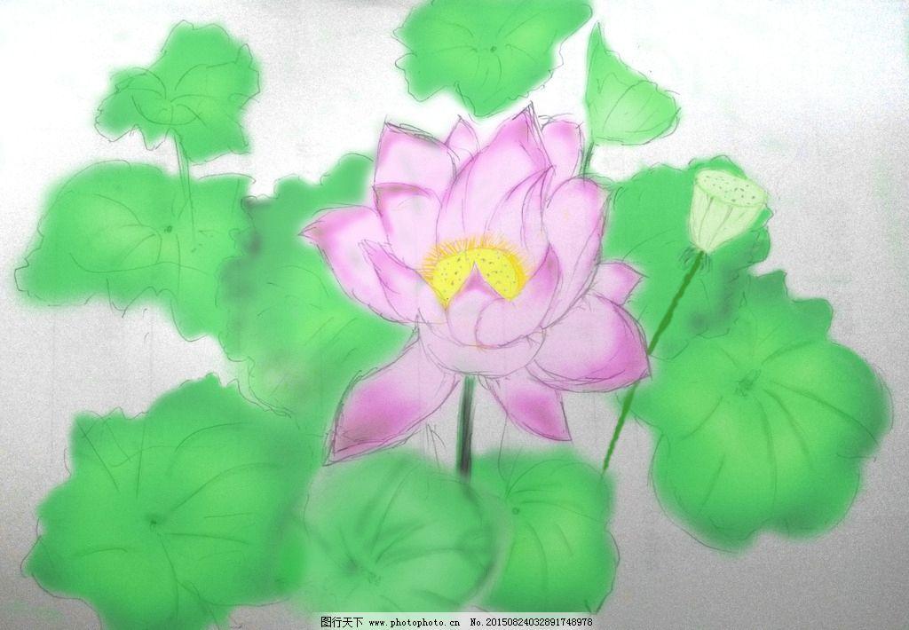 用铅笔画荷花图_绘画分享
