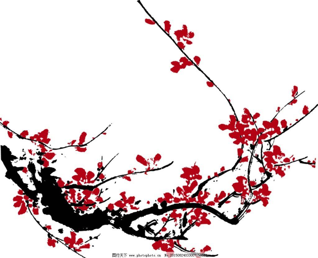 纸粘土树枝梅花粘贴画