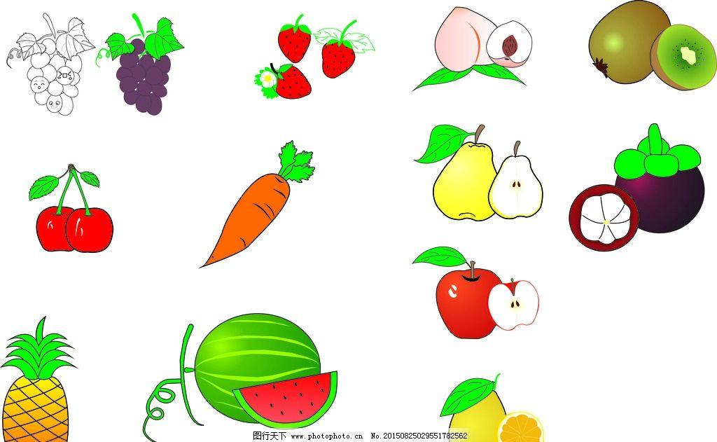 水果 简笔画 水果简笔画 苹果 桃子 草莓 西瓜 柠檬 葡萄 无限极之
