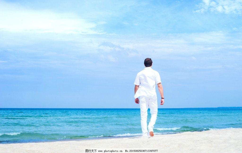 海边背影 海边风景 旅游 度假 假期 假日 摄影 人物图库 男性男人 300图片