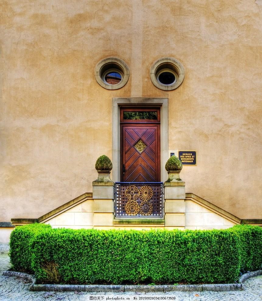 欧式大门 欧式 门 大门 入户门 园林 庭院 门庭 楼梯 台阶 创意 另类