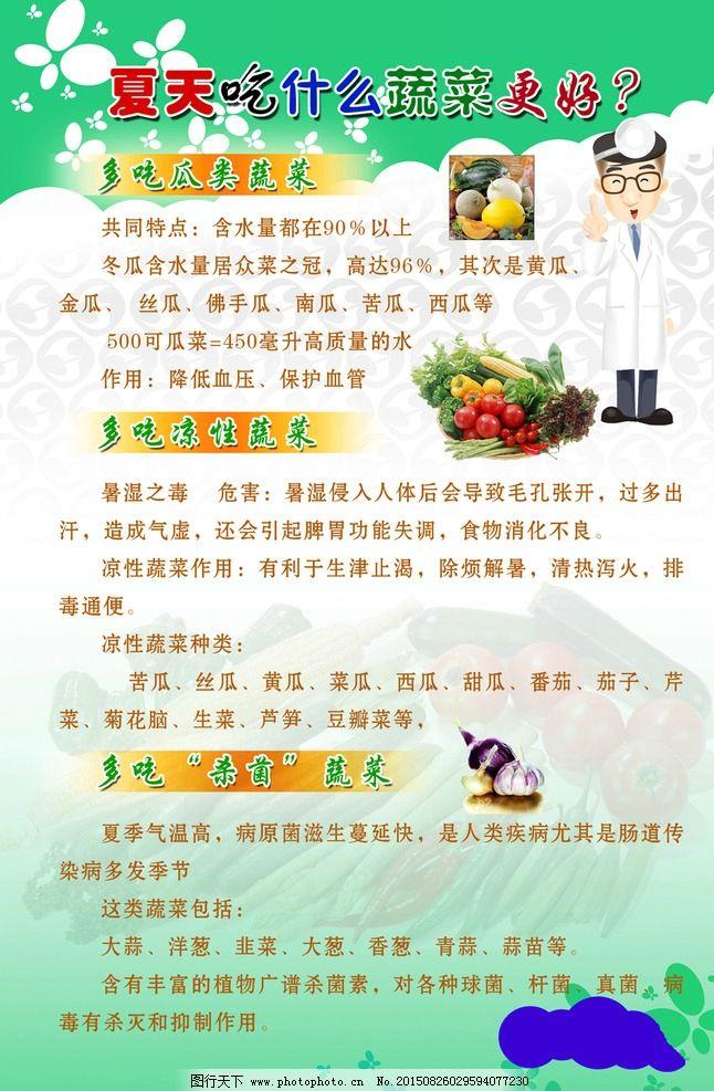 夏季饮食健康宣传