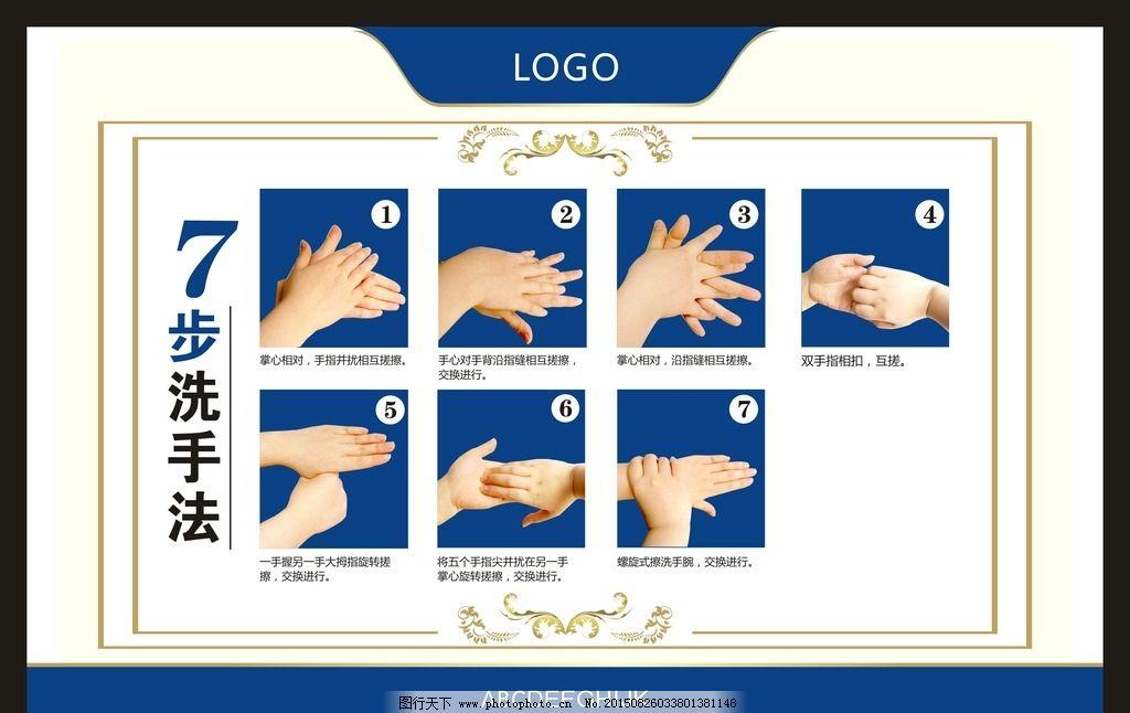 七步洗手法 医院七步洗手图片