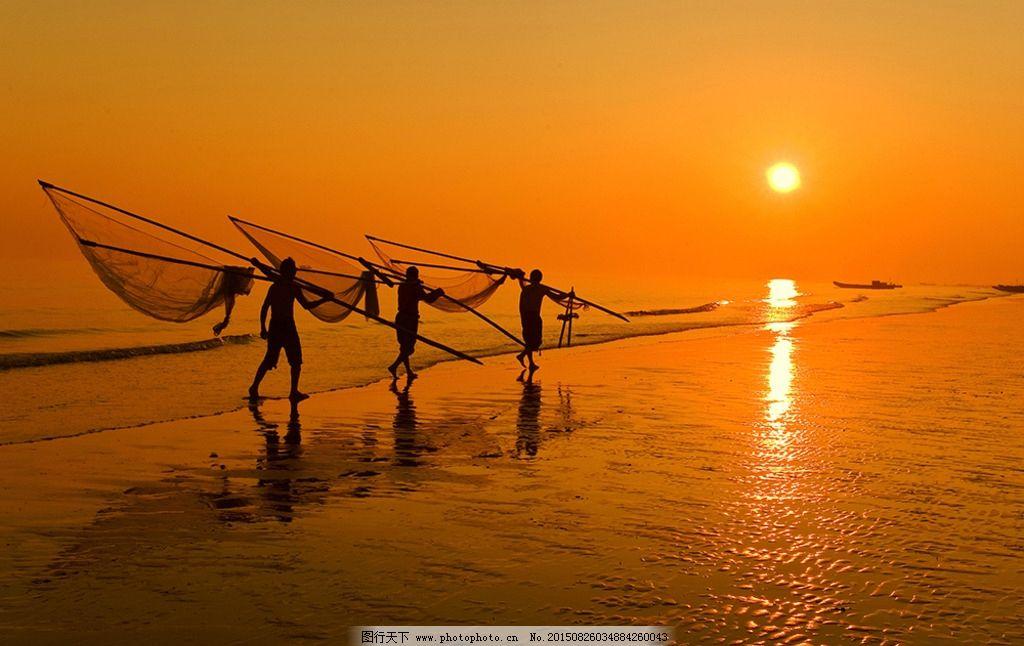 渔歌唱晚图片图片