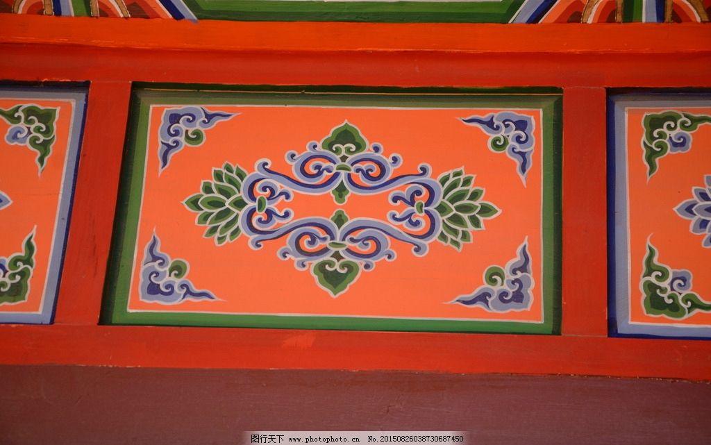 图文 寺庙 纹样 梁 手绘 摄影 文化艺术 美术绘画 240dpi jpg