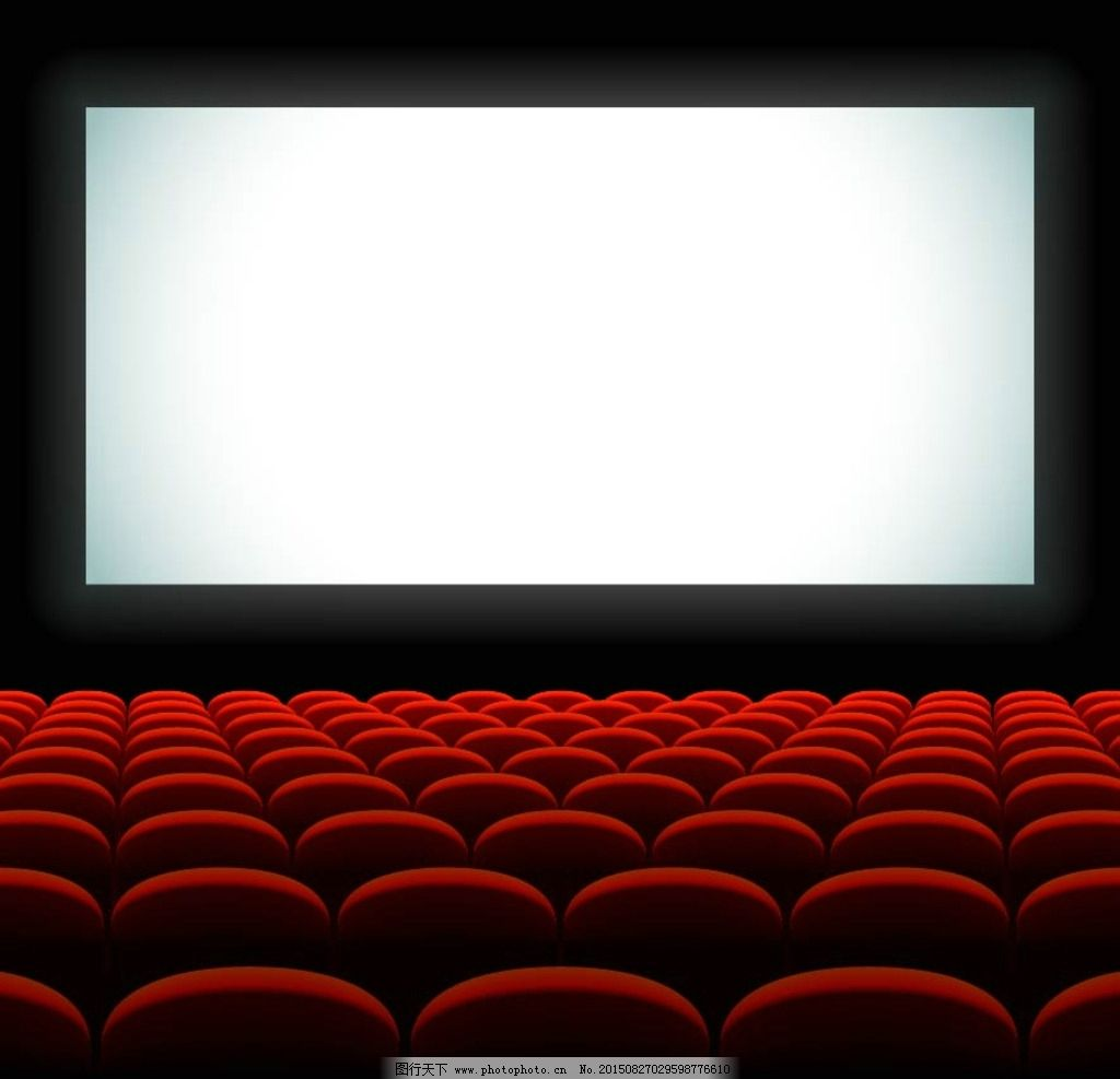 电影院观众厅矢量素材图片