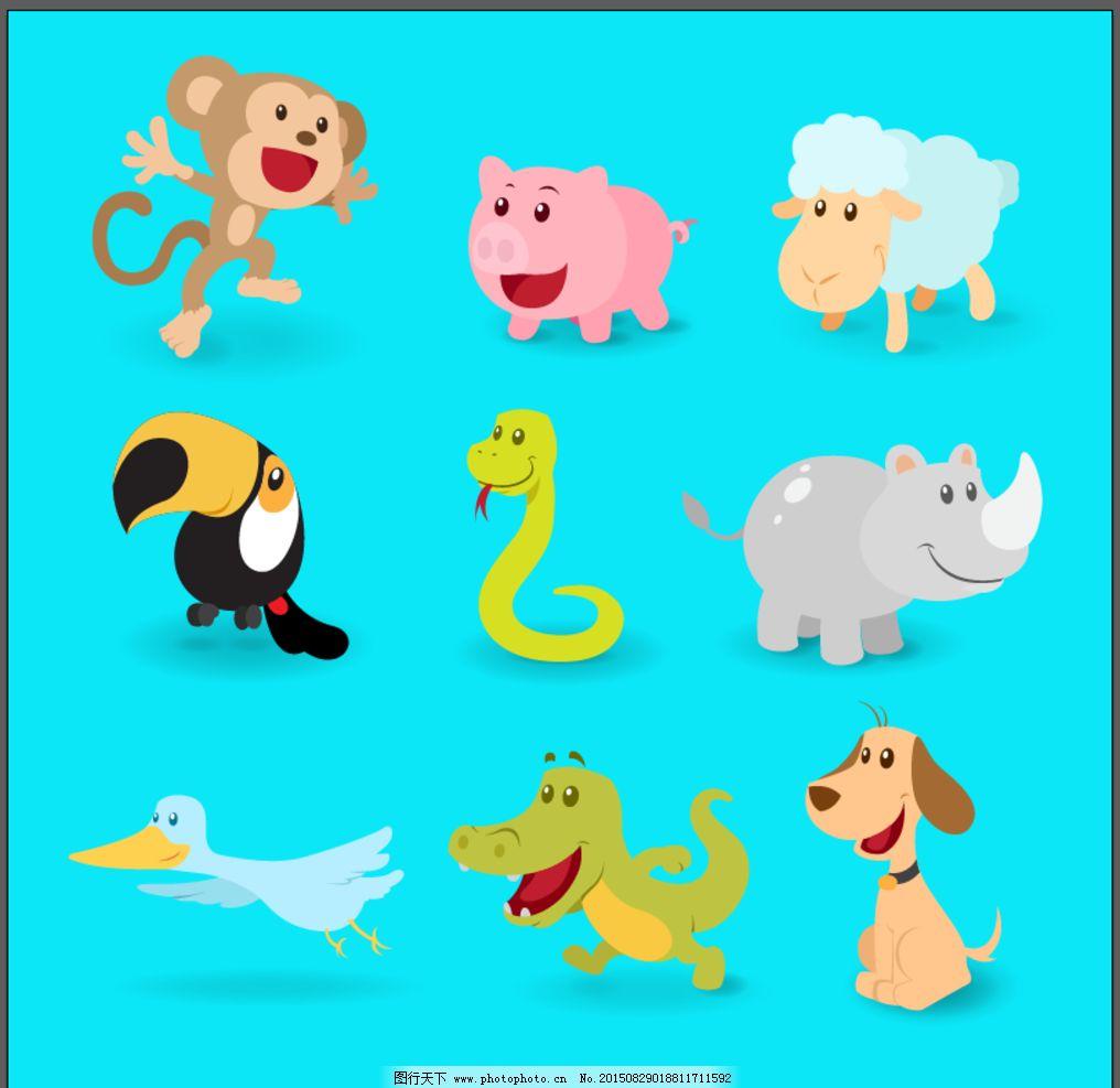 q版卡通动物图片