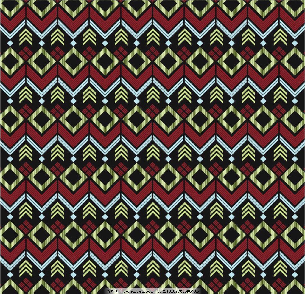 几何图案 几何背景 几何底纹 布花 花布 面料 四方连续 矢量