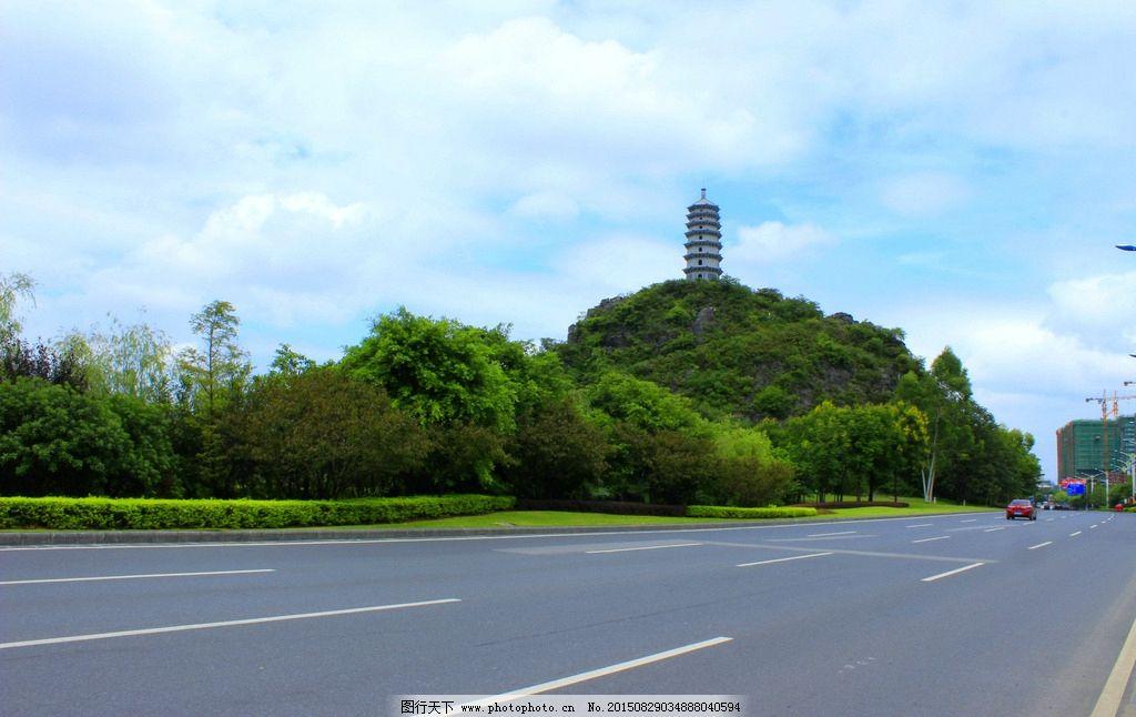 琴潭村宝塔 琴潭村公路 公路 桂林山水 摄影 自然景观 自然风景 300dp