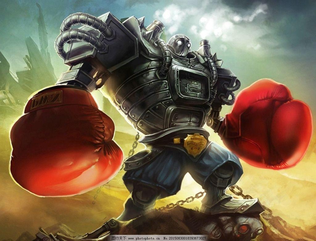 英雄联盟 高清 桌面 蒸汽机器人 拳套 布里茨 壁纸 大型 竞技