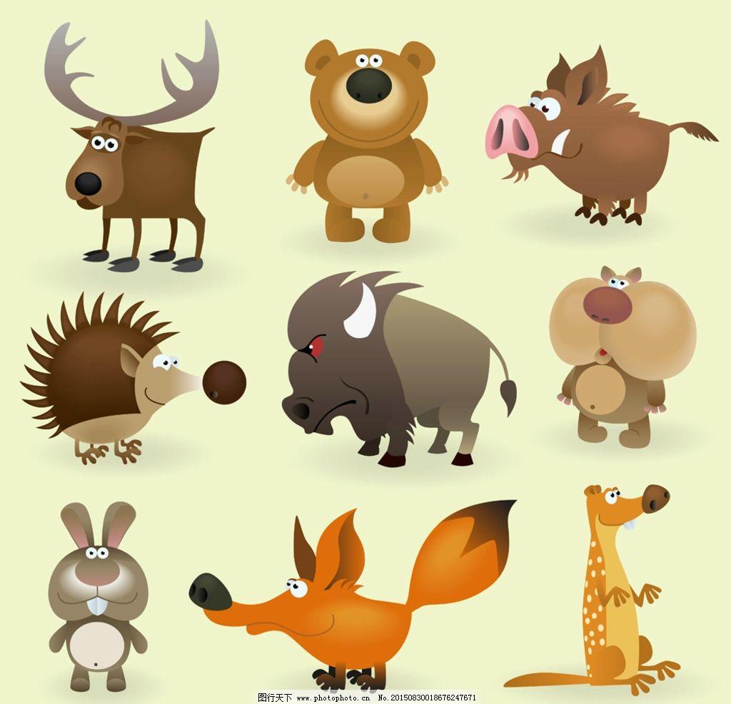 小动物 动物 猪 卡通 狐狸 驯鹿 设计 动漫动画 其他 eps