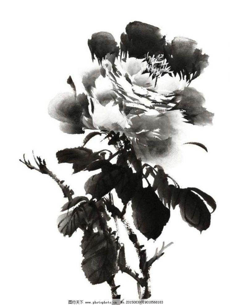 水墨 国画 花 牡丹 水墨花 水墨画 设计 文化艺术 绘画书法 300dpi