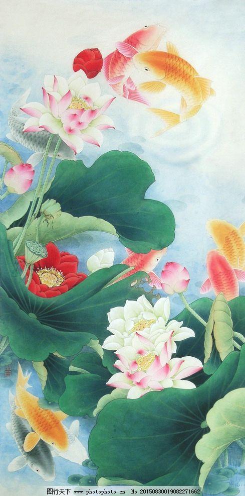 李晓明工笔荷花高清图图片-案头画范 李晓明画牡丹 中国