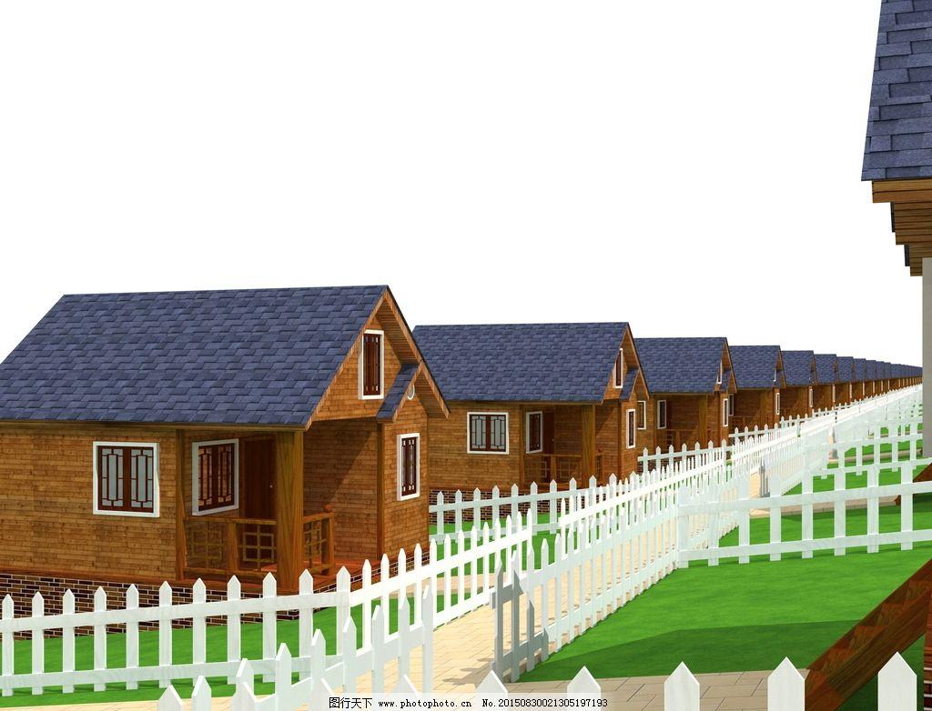俱乐部 其他设计 环境设计 源文件 园林设计 生态木屋酒店 景观设计