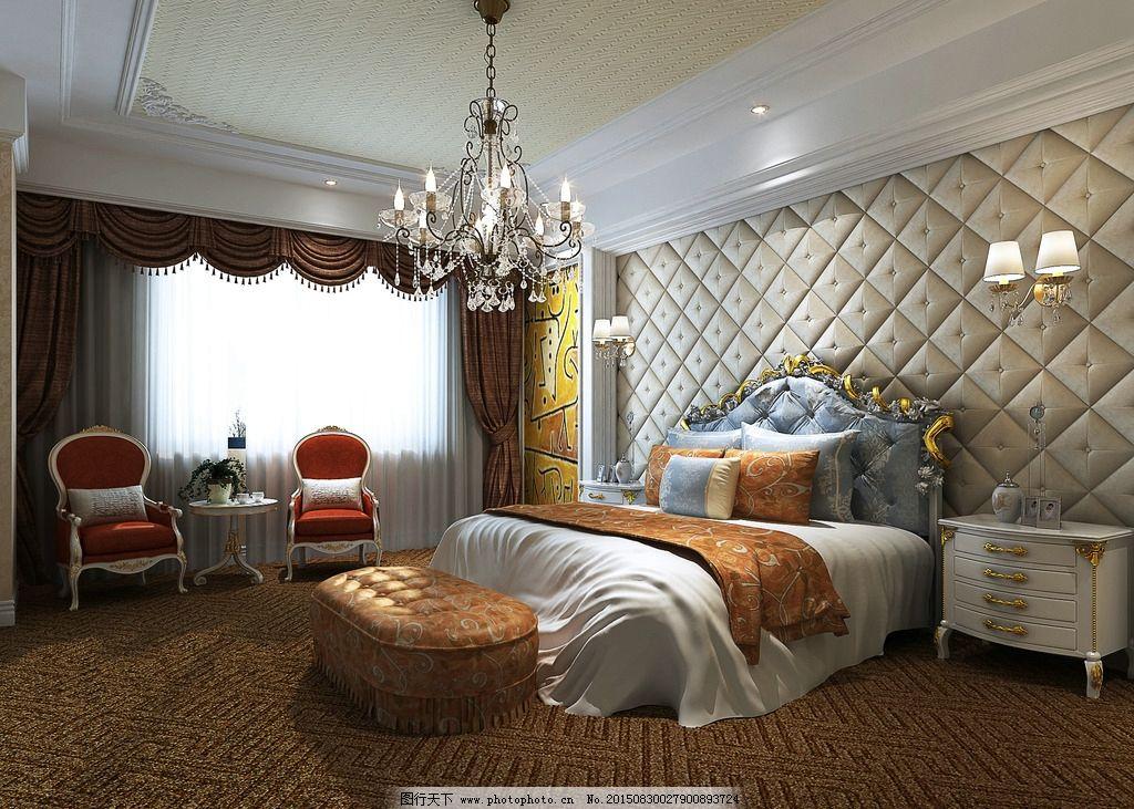 精美的欧式客房图片