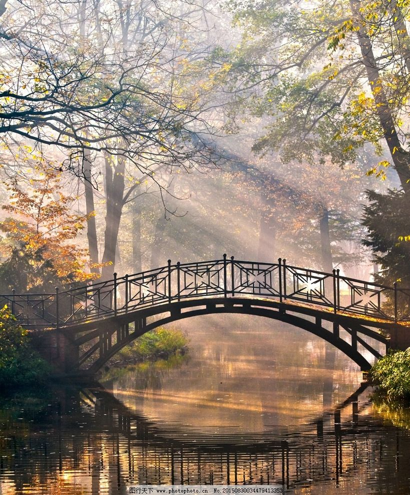 小桥图片_山水风景_自然景观_图行天下图库