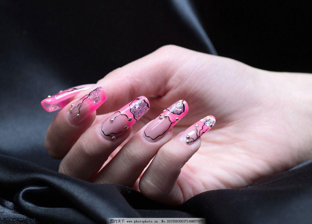 qq甲 彩绘甲 法式光疗甲 法式美甲 美甲图片 美甲指甲 指甲 韩式美甲图片
