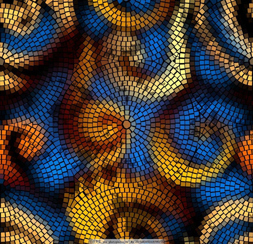 马赛克 格子 拼结 拼贴 方块 方格 马赛克背景 时尚 抽象背景 创意