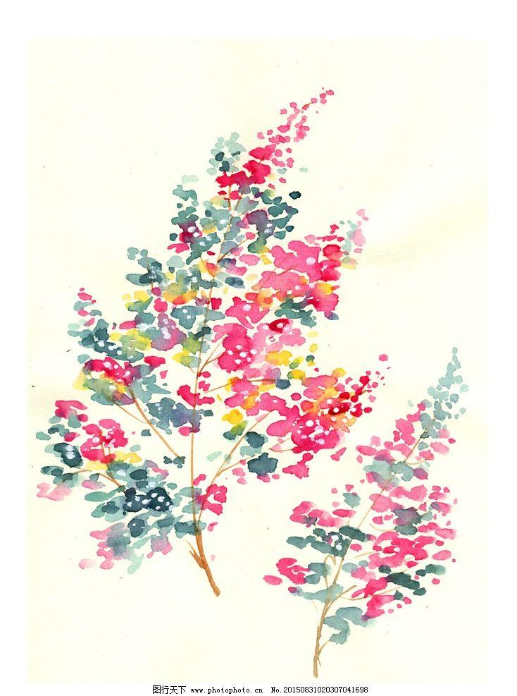 水彩 花卉 植物 手绘 高清 手绘 花朵 植物 水彩 设计 底纹边框 花边