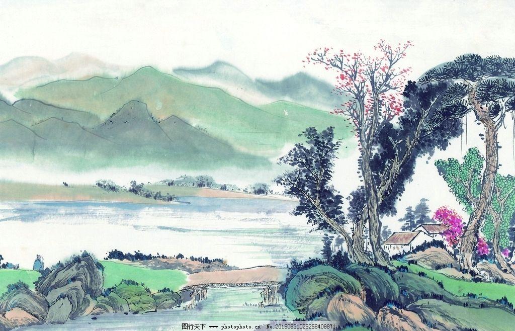 古代国画山水图片_树木树叶_生物世界_图行天下图库