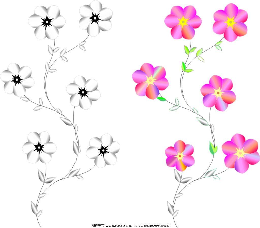 花 花藤 素材 好看的 手绘 设计 广告设计 广告设计 cdr
