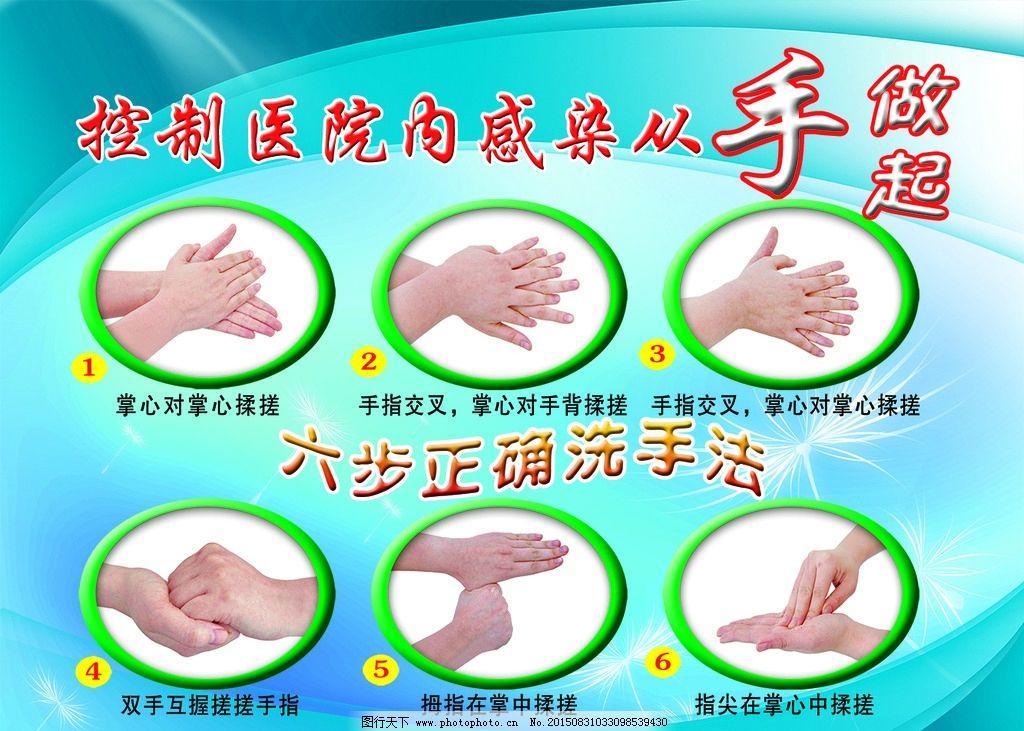 正确洗手六步法