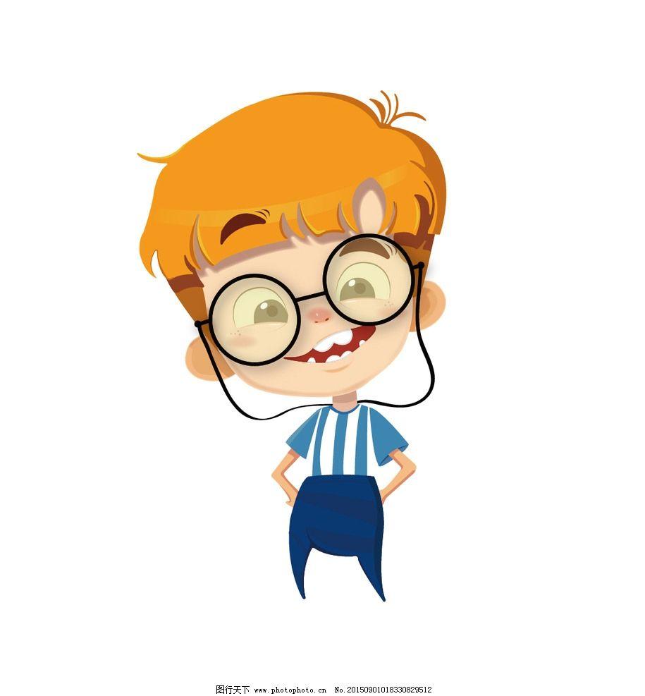 人 小人 孩子 男人 戴眼镜 黄头发 男孩 设计 动漫动画 动漫人物 ai