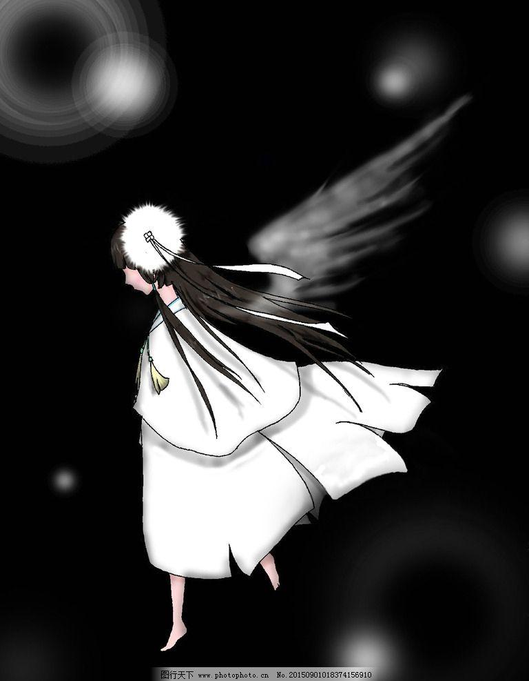 黑暗与光 女孩 天使 美丽 清新 动漫动画