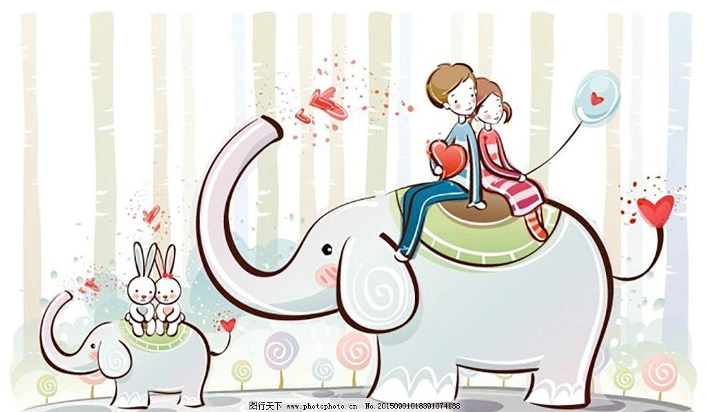 超有爱心的大象与小象