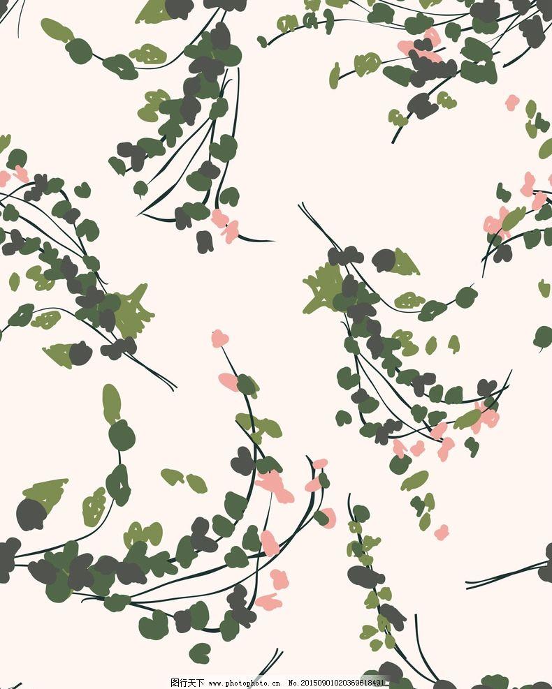 树叶花纹素材