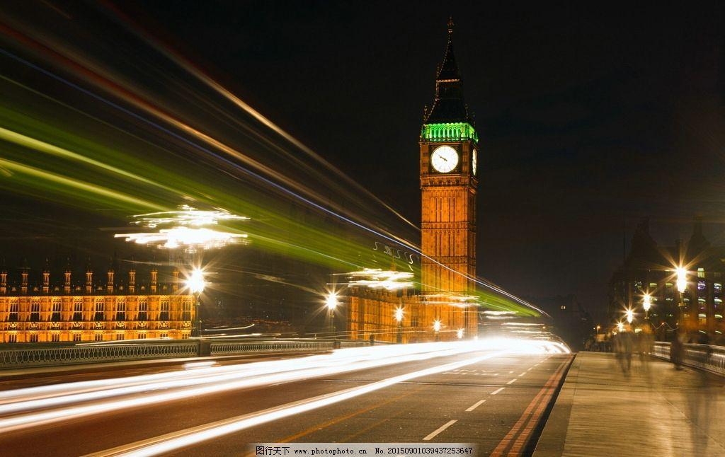 伦敦大本钟绚丽夜景